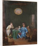 Joseph Balsamo, comte de Cagliostro, in his cabinet, creating an Homunculus by Anonymous