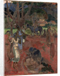 Tahitian Landscape with Nine Figures by Anonymous