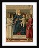 Virgin and Child Enthroned With Four Angels by Anonymous