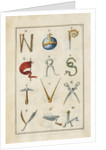 Alphabet by Anonymous