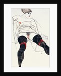 Woman with Black Stockings by Anonymous