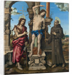 The Saints Sebastian, John the Baptist and Francis of Assisi by Anonymous