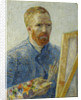 Self-portrait at the easel by Anonymous
