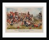 The attack of the French hussars on the 2nd Pomeranian Battalion. Dannigkow-Möckern, 5 April 1813 by Anonymous