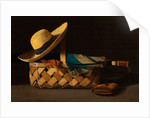 Market Basket, Hat and Umbrella by Anonymous