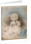 Portrait of a child with a Lorgnette by Anonymous