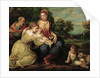 The Holy Family with Saints Catherine and John the Baptist by Anonymous