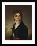 Portrait of a boy wearing a red waistcoat by Anonymous