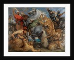 Tiger, Lion and Leopard Hunt by Anonymous