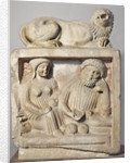 Tombstone depicting a ritual meal by Anonymous