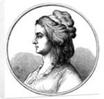 Portrait of Aloysia Lange, née Weber by Anonymous