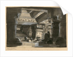 Stage design for the opera Die Zauberflöte by Wolfgang Amadeus Mozart, Théâtre Lyrique in Paris by Anonymous