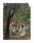 Munich beer garden by Anonymous