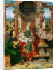 The Madonna and Child with Saint Joseph (Winged Altar, central panel) by Anonymous