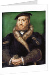 Portrait of a bearded man with fur coat by Anonymous