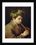 Boy playing the Flute by Anonymous