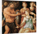 Vulcan hands Thetis the shield for Achilles by Anonymous