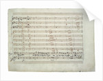 The autograph manuscript: The Magic Flute. Act I aria This portrait is enchantingly beautiful..., by Anonymous