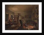 Interior with hunting trophies, 1853 by Anonymous