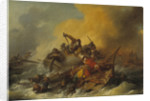 Battle at Sea between Soldiers and Oriental Pirates, 1767 by Anonymous