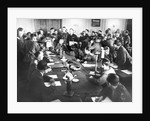 The signing the German Instrument of Surrender in Berlin, May 8, 1945, 1945 by Anonymous