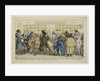 Dawdlers of the Rue du Coq or The Martinets printshop, c. 1810 by Anonymous