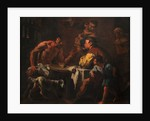 Satyr and peasant family by Anonymous