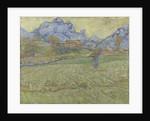 Wheat fields in a mountainous landscape, 1889 by Anonymous