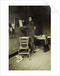 Amedeo Modigliani in his studio, c. 1915 by Anonymous