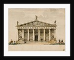 Project of the riding hall for the Imperial Horse Guards in Saint Petersburg, c1744 and 1817 by Anonymous