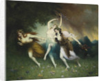 Fleeing nymphs by Anonymous