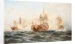 HMS Wachtmeister fighting against the Russian squadron on Juny 4, 1719, 1895 by Anonymous