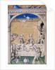 Miniature from Le Remède de Fortune by Guillaume de Machaut. Feast scene, 1355-1360 by Anonymous