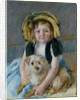 Sara with her dog, ca 1901 by Anonymous