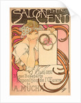 Poster for Salon des Cent. Alphonse Mucha Exhibition, 1897 by Anonymous