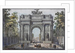 The Narva Triumphal Gate in St. Petersburg, 1821 by Anonymous