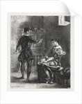 Hamlet: Hamlet and Ophelia, 1834 by Eugène Delacroix
