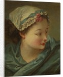 Head of a Young Woman, early 1730s by François Boucher