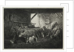 Interior of Sheep Enclosure by Charles-Émile Jacque