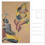Krishna Stroking Radha's Feet, 1800s by Unknown