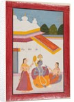 Krishna under a canopy, c. 1680 by Unknown
