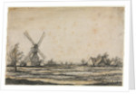 Landscape with a Windmill near a Farmstead, 1642-1644 by Aelbert Cuyp