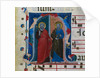 Leaf from a Gradual with Historiated Initial: SS. Peter and Andrew, c. 1320-1340 by Master of Isaac and Esau