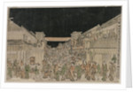 Night Scene, Street of Theatres, late 1700s-early 18002 by Unknown