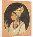 Oval portrait of a woman in a Chaghtai hat, c. 1740-50 by Unknown
