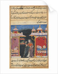 Page from Tales of a Parrot: Seventh night: The parrot addresses Khujasta…, c. 1560 by Unknown