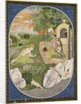 Rama, Sita and Lakshmana in the Forest, page from the Ramayana, c. 1830 by Unknown