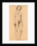 Standing Female Nude, probably 1878-79 by Otto H. Bacher