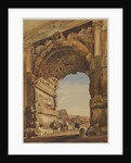 The Arch of Titus and the Coliseum, Rome, 1846 by Thomas Hartley Cromek