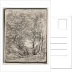 The Gardens of Horace, original impression 1855, printed in 1921 by Jean Baptiste Camille Corot